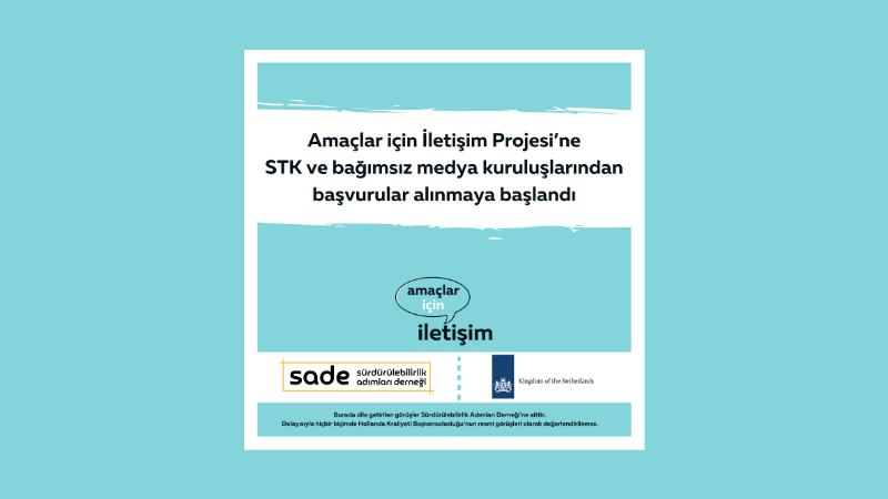 Amaçlar için İletişim Projesi'nin gönüllülük programına, STK ve bağımsız medya kuruluşlarından başvurular alınmaya başlandı