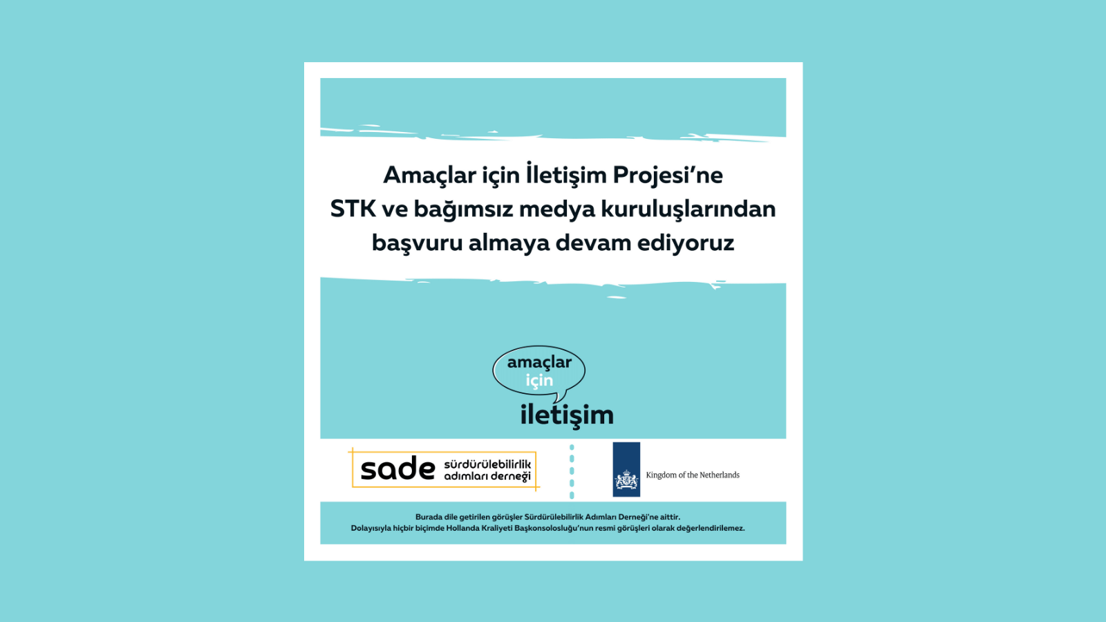 Amaçlar için İletişim Projesi'nin Gönüllülük Programı'na, STK ve bağımsız medya kuruluşlarından başvuru almaya devam ediyoruz